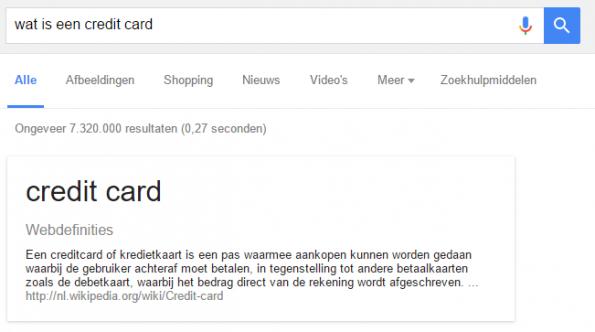 Google als encyclopedie