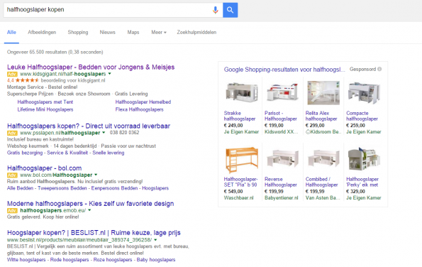 Google Adwords top 4