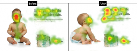 Hoe je hoger in Google komt door Neuromarketing - eyetrack baby
