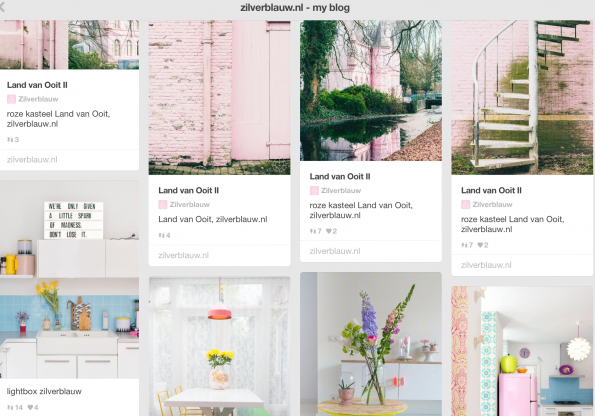Zilverblauw: overal dezelfde look & feel. Dus ook op Pinterest. Visual storytelling in optima forma.