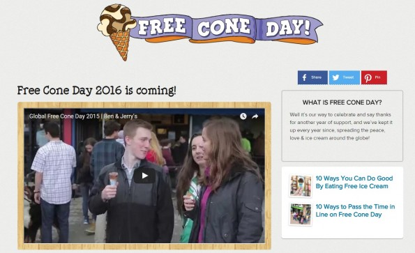 Free Cone Day Ben & Jerry's