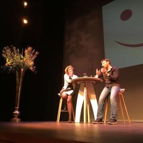 Simon Sinek in gesprek met Jitske Kramer - foto: @AJHuisman