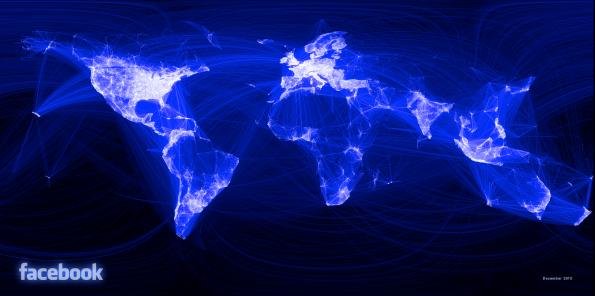 Facebook world map