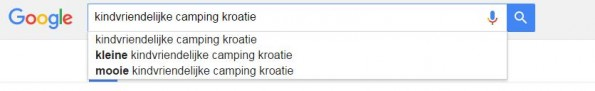 Google suggesties SERP