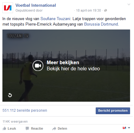 Call to action videopost