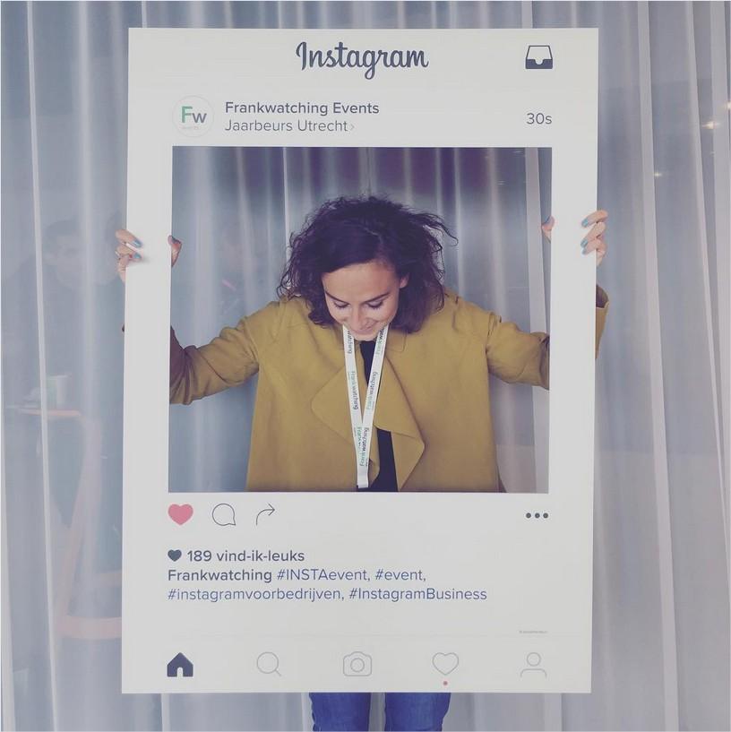 Kim Stolk op Instagram Jawel, uw razende reporter is voor @frankwatching present op het Instagram Event! Hoe blij een kind kan wor