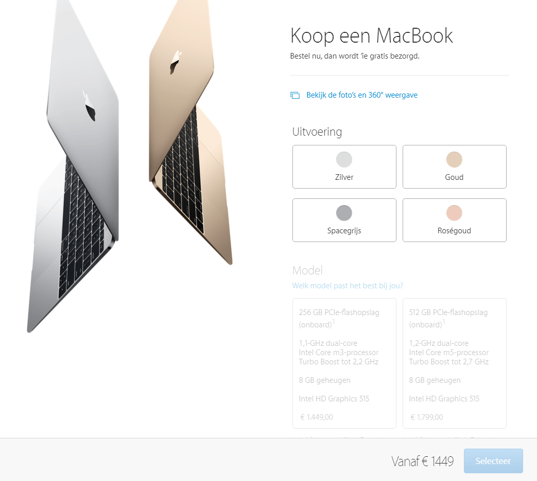 Productconfiguratie Apple MacBook