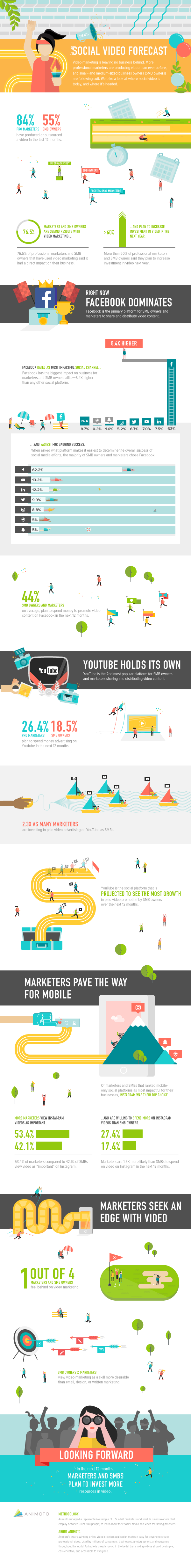 social video - hoe passen organisaties dit toe infographic