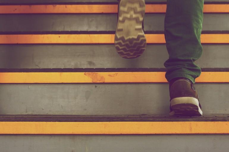 stapjes zetten