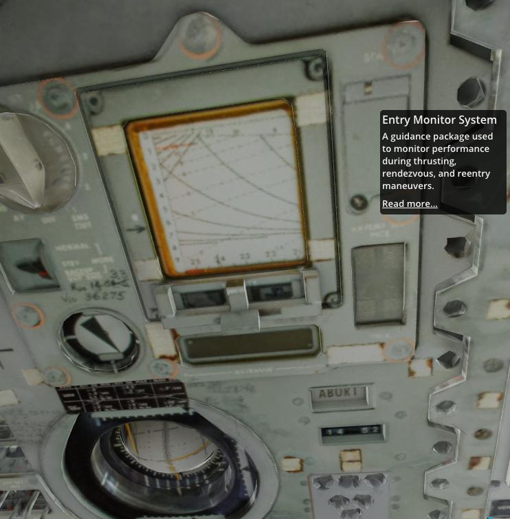 Interieur van de Apollo 11