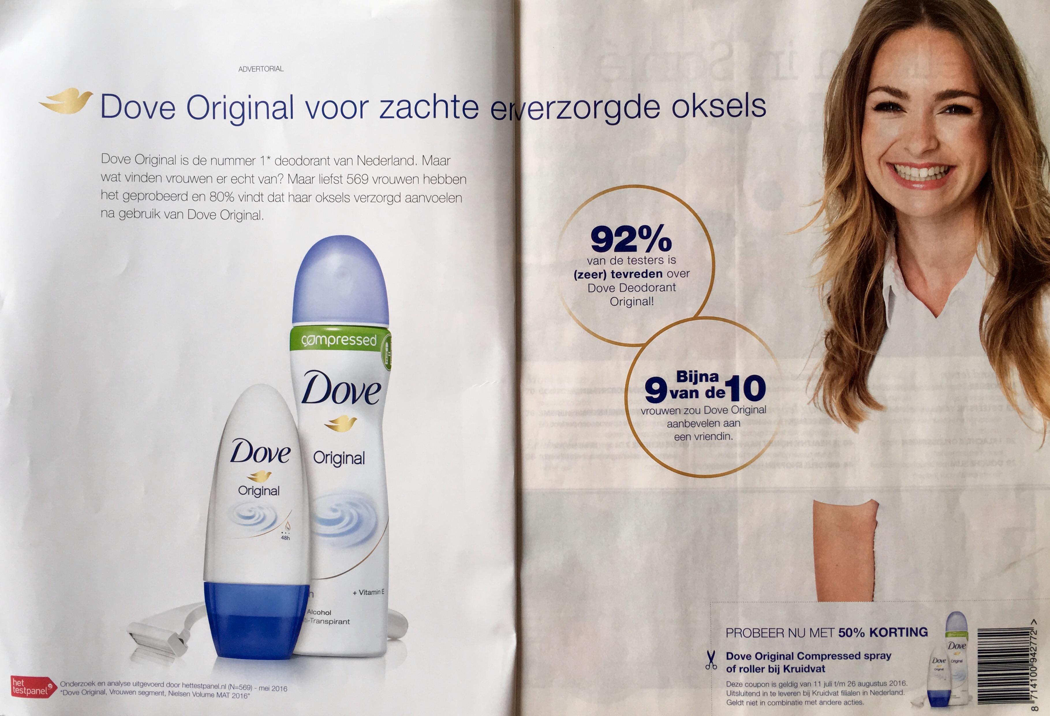 Het wetenschappelijk psychologische voordeel van een productfoto in jouw advertentie - Dove