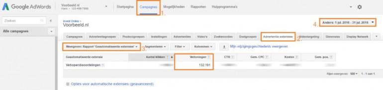 Google AdWords - beoordeling