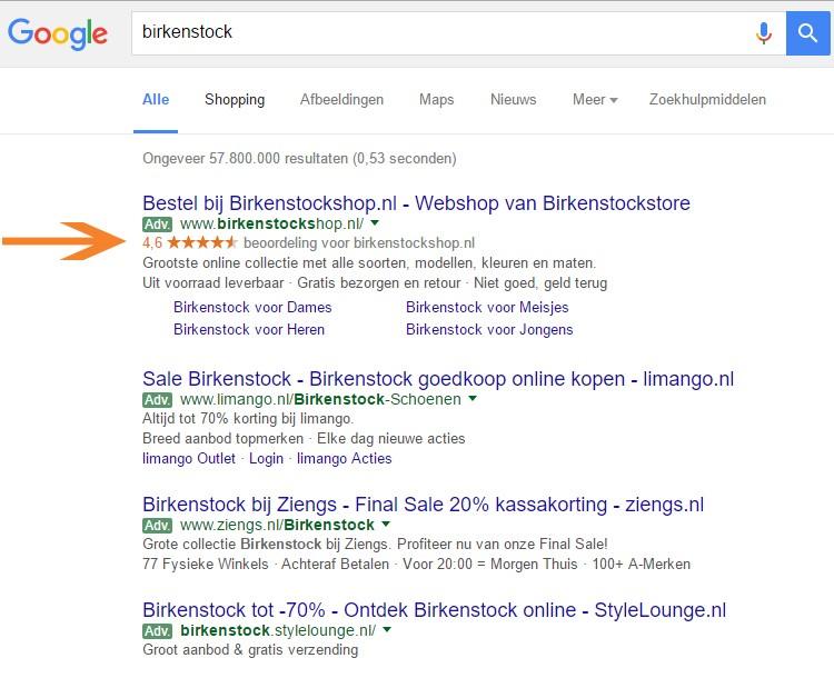Google AdWords - search