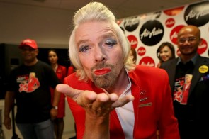 Richard Branson stewardess