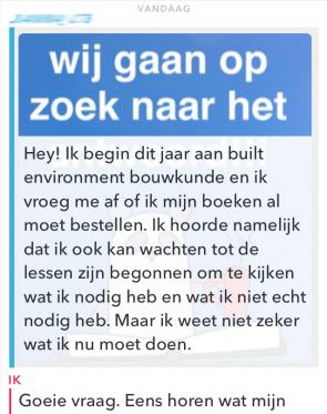Snapcare HvA Hogeschool van Amsterdam bouwkunde