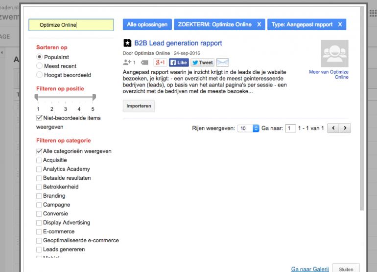 Zoekvenster gebruiken en zoeken op Optimize Online