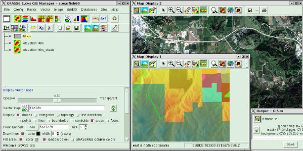 GRASS 6.1 GIS Manager (screenshot: M. Neteler)