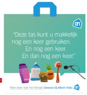 De slogan van Albert Heijn: Gewoon bij Albert Heijn.