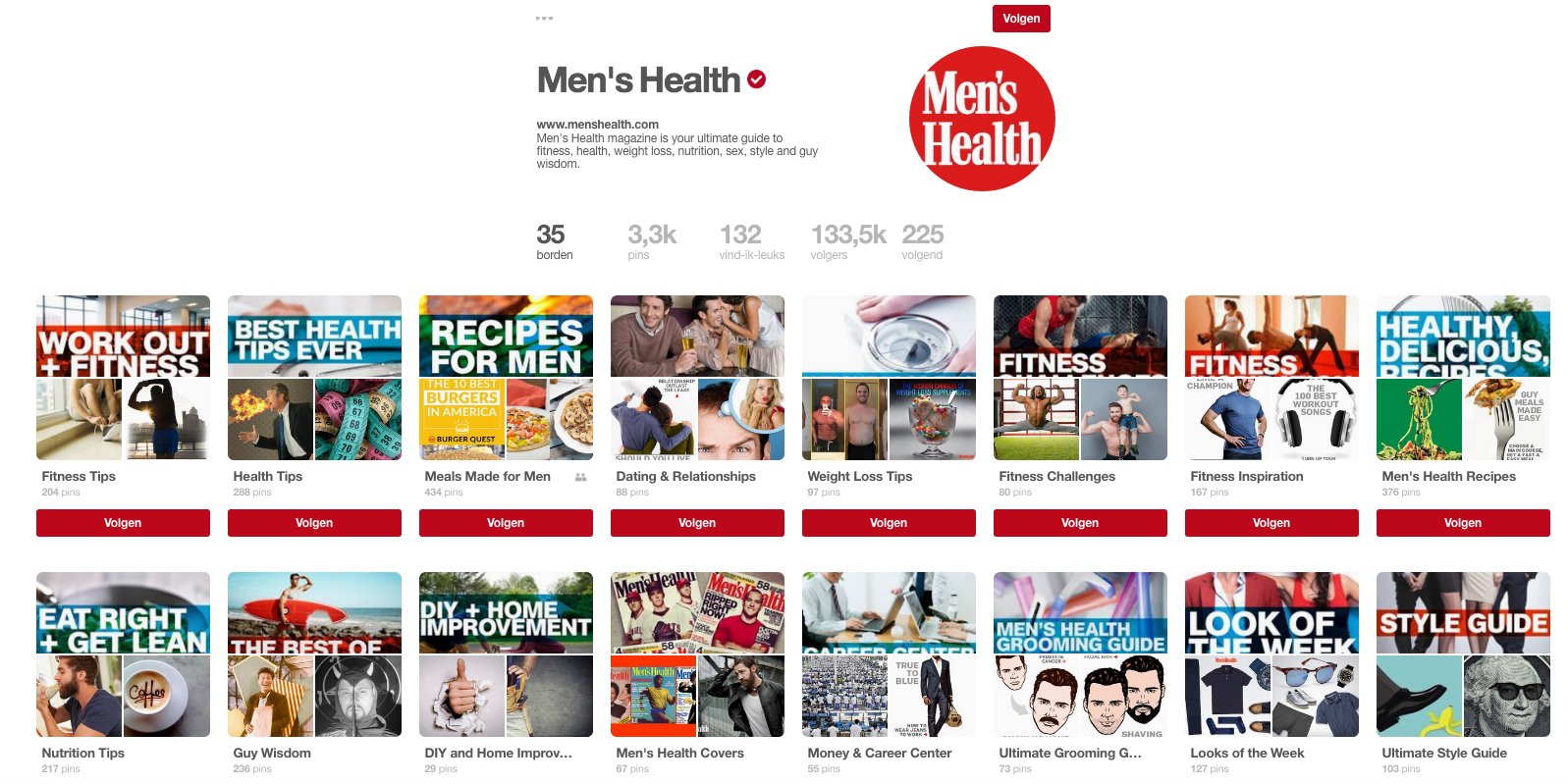 Men's Health op Pinterest.