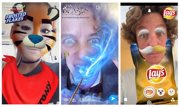 Snapchat branded lenzen