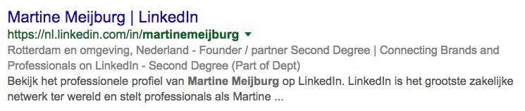 headline LinkedIn-profiel