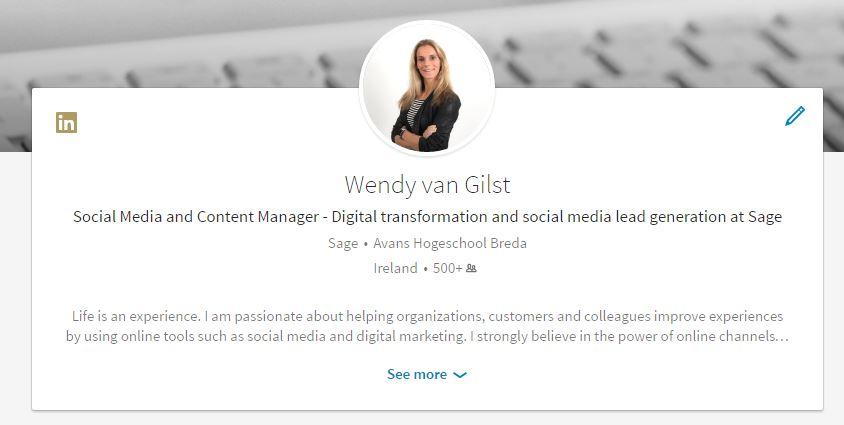 Profiel LinkedIn
