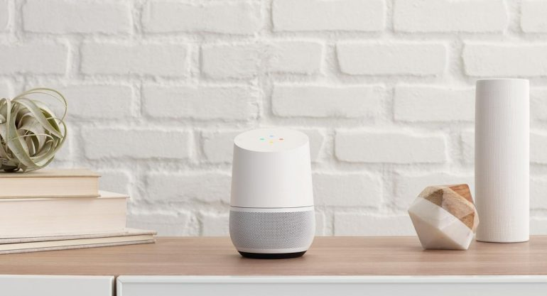 Voice search met Google Home