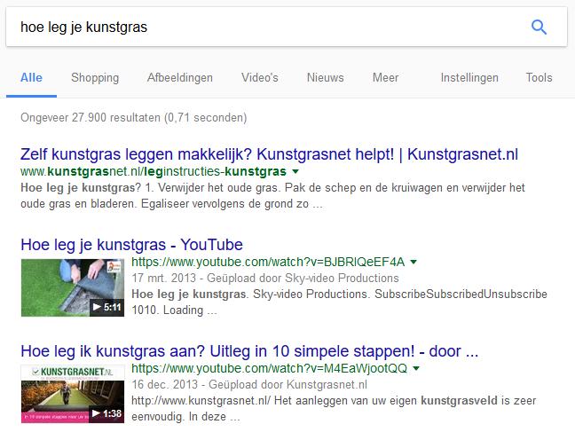 seo voor video google zoekresultaten