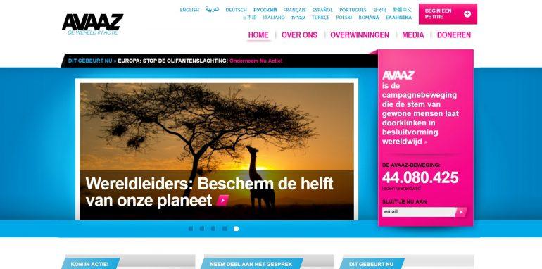 screenshot avaaz