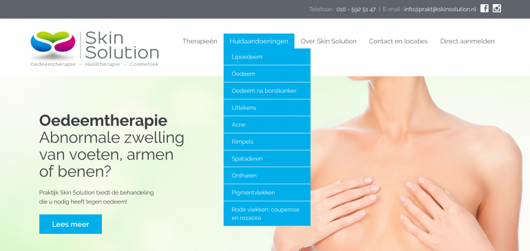 SEO in de zorg - Skin Solution huidtherapie