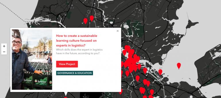 kaart projecten Amsterdam Smart City