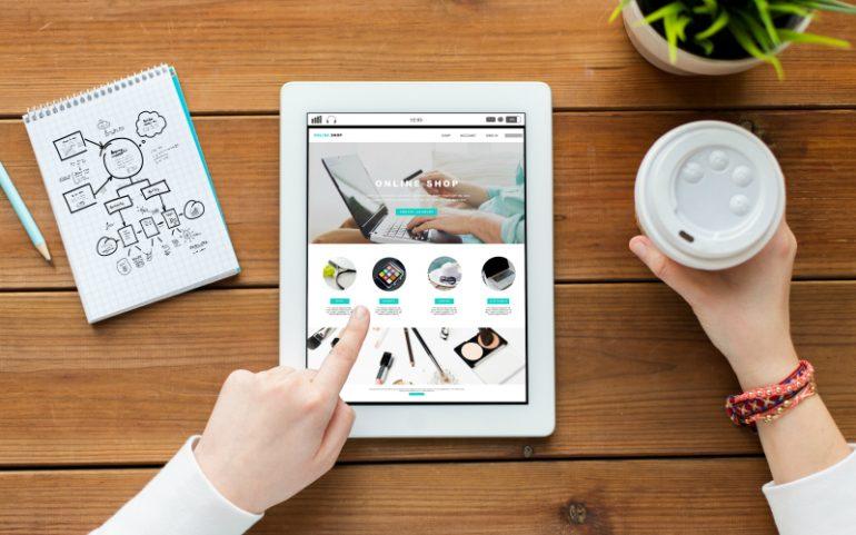 webshop tablet