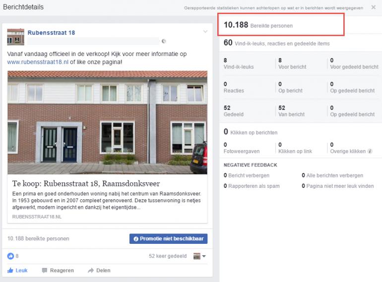woning verkopen facebook
