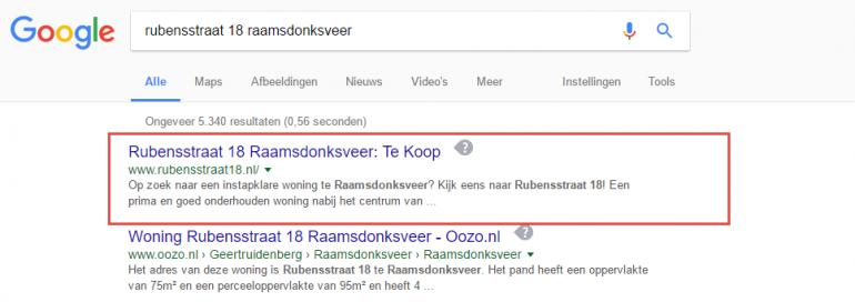 woning verkopen google
