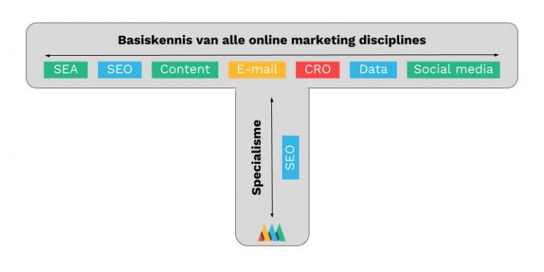 t-shaped online marketeer