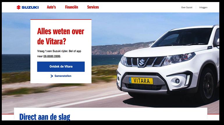 Online pre-suasion op suzuki.nl