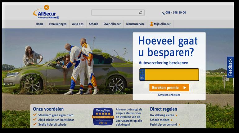 Online pre-suasion op allsecur.nl