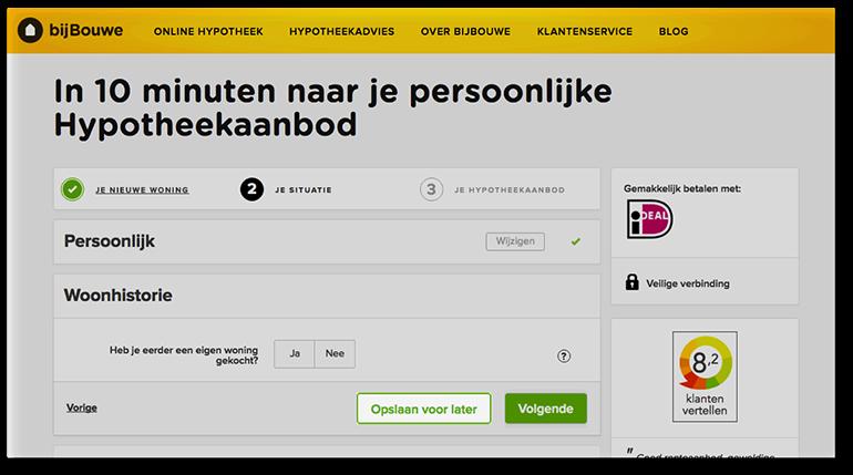 Online pre-suasion op bijbouwe.nl