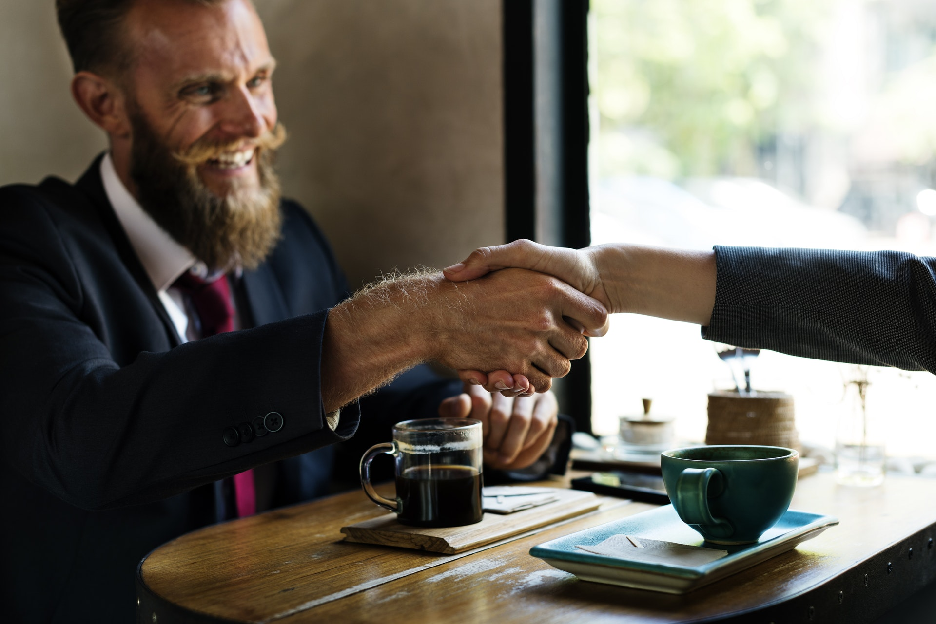 Fact based marketing handshake