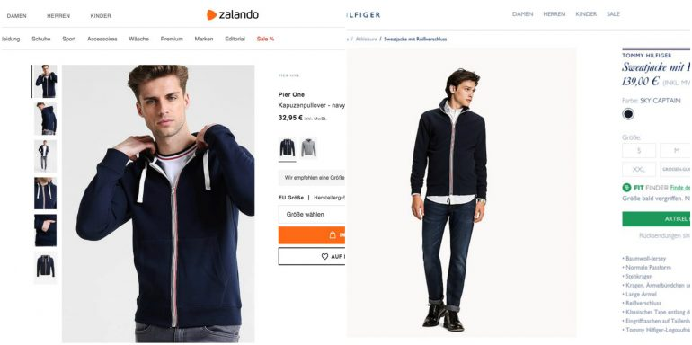 zalando tommy collage
