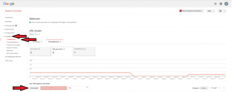 Google Search Console crawl errors