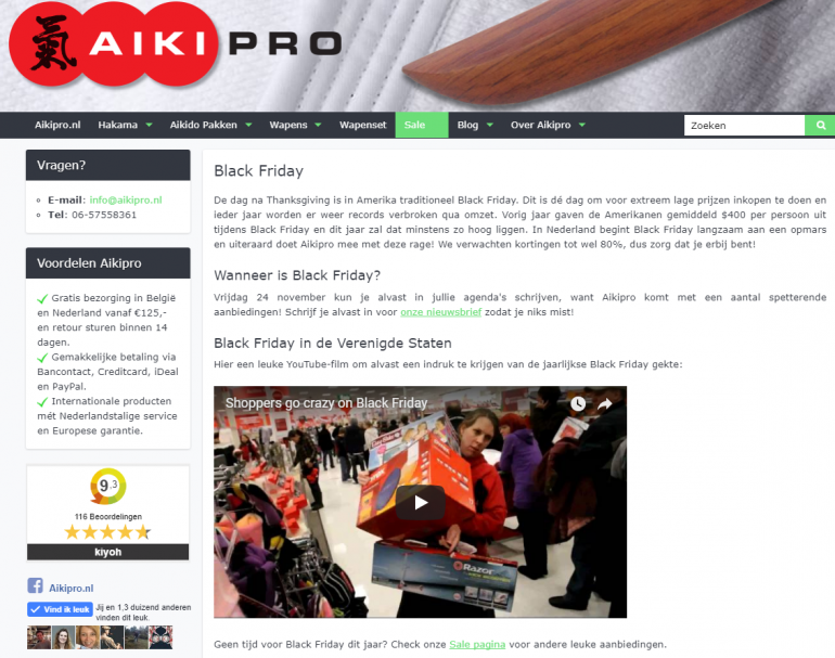 aikipro voorbeeld black friday