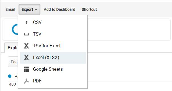 Google Analytics exporteren
