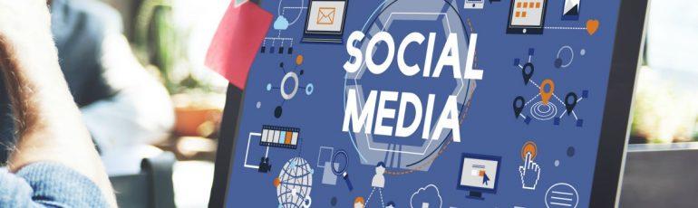 social media scherm