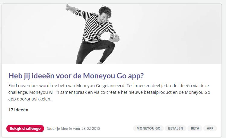 Co-creatie bij Moneyou