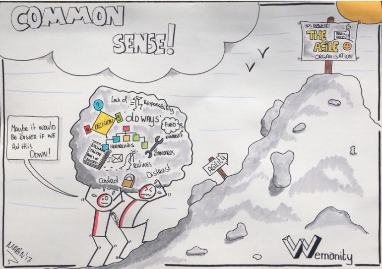 cartoon agile transformatie