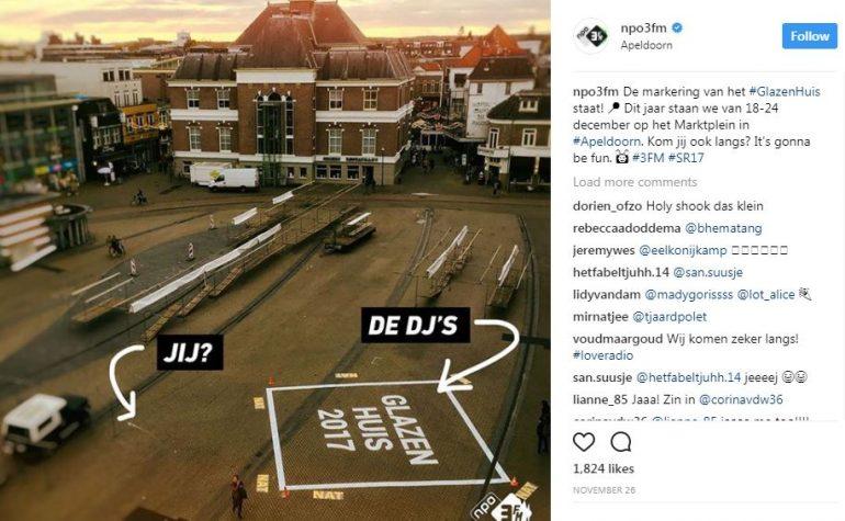 Instagram npo 3 fm laat zien welke call to action belangrijk is