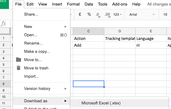 download het spreadsheet als Excel