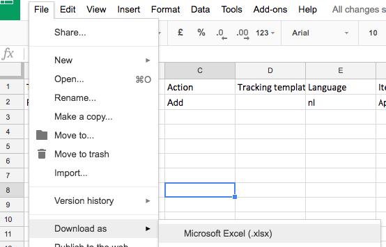 download het spreadsheet als Excel