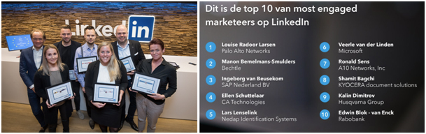LinkedIn Most Engaged Marketeers